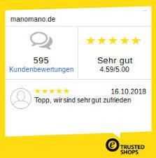 Manomano wurde von den Verbrauchern als zuverlässiger Shop bezüglich Lieferung, Kundenservice und Preisen bewertet